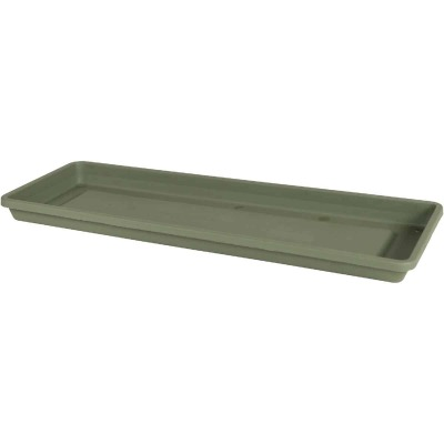Bloem Terra 24 In. Plastic Living Green Flower Box