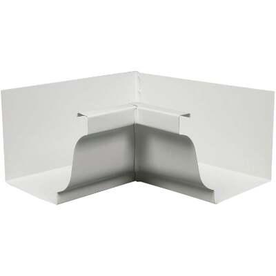 Spectra Metals 5 In. Aluminum White Mitre Gutter Inside Corner