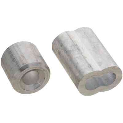 """Prime-Line Cable Ferrules and Stops, 1/4"""", Aluminum"""