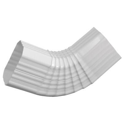 Repla K 2 x 3 In. Vinyl White Side Downspout Elbow