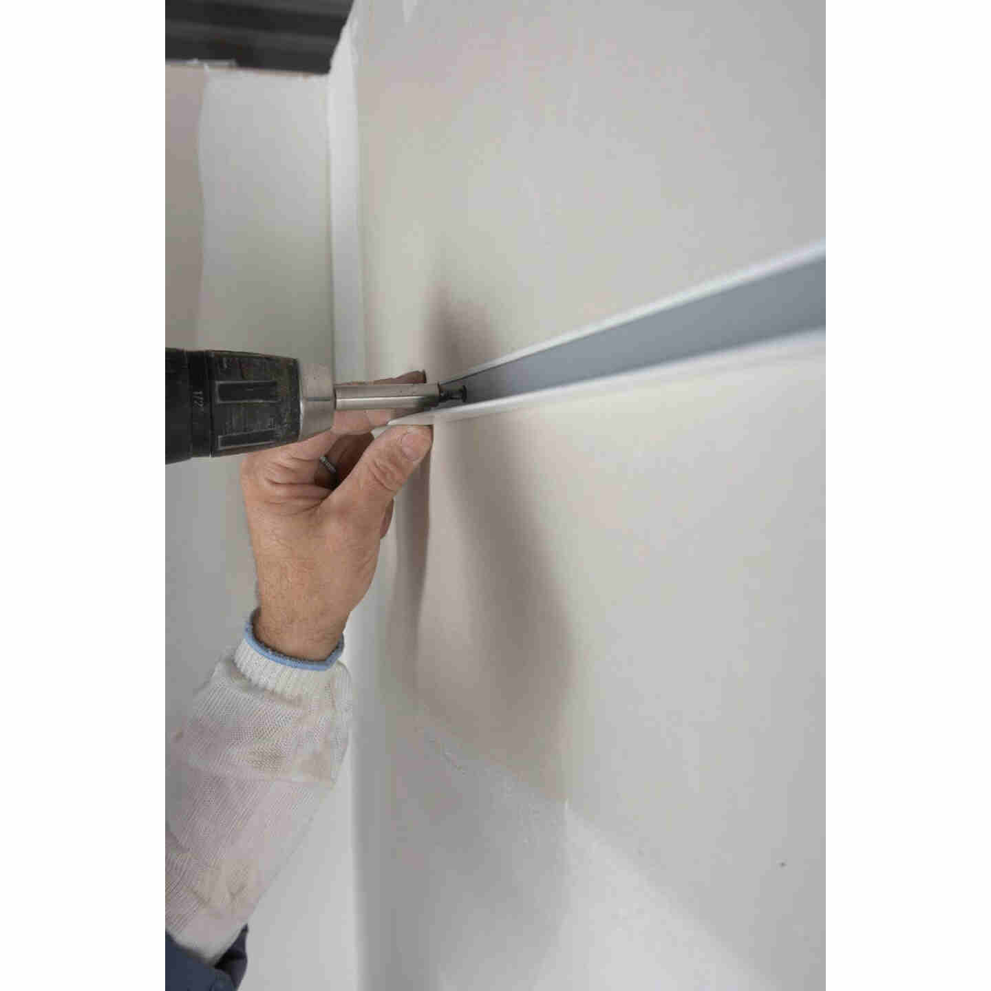 Donn 12 Ft. x 7/8 in. White Steel Ceiling Wall Molding Image 4