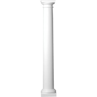 Crown Column 10 In. x 8 Ft. Unfinished Round Fiberglass Column