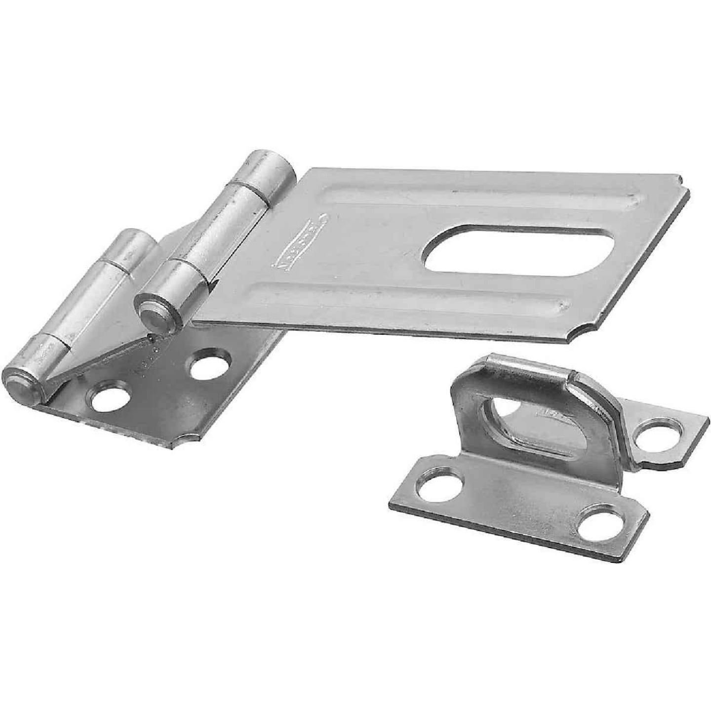 National 3-1/4 In. Double Hinge Zinc Hasp Image 1