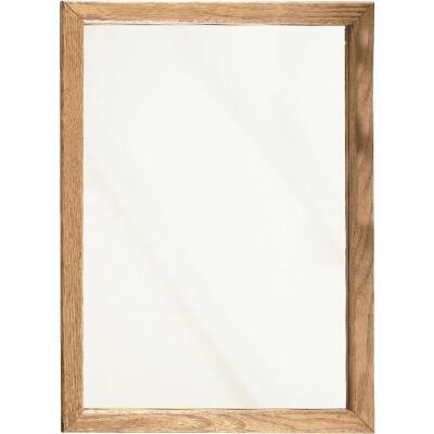 Zenith Oak 16 In. W x 22 In. H x 4-1/2 In. D Single Mirror Surface/Recess Mount Framed Medicine Cabinet