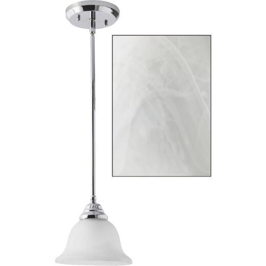 Home Impressions Julianna 1-Bulb Polished Chrome Incandescent Pendant Light Fixture