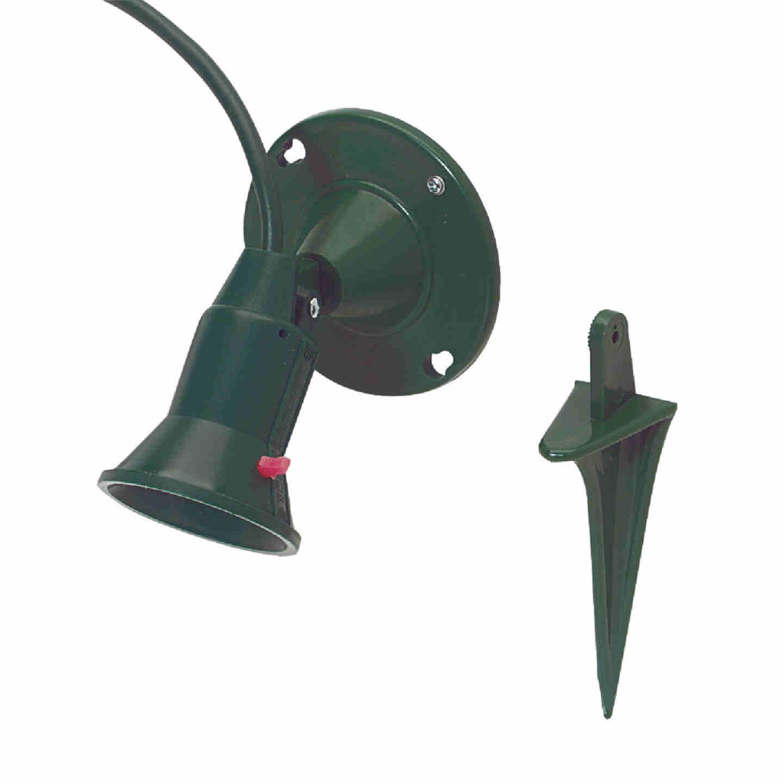 Do it 150W Plastic PAR38 Green Weatherproof Outdoor Lampholder Image 1