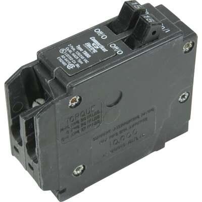 Connecticut Electric 15A/15A Twin Single-Pole Standard Trip Interchangeable Packaged Circuit Breaker