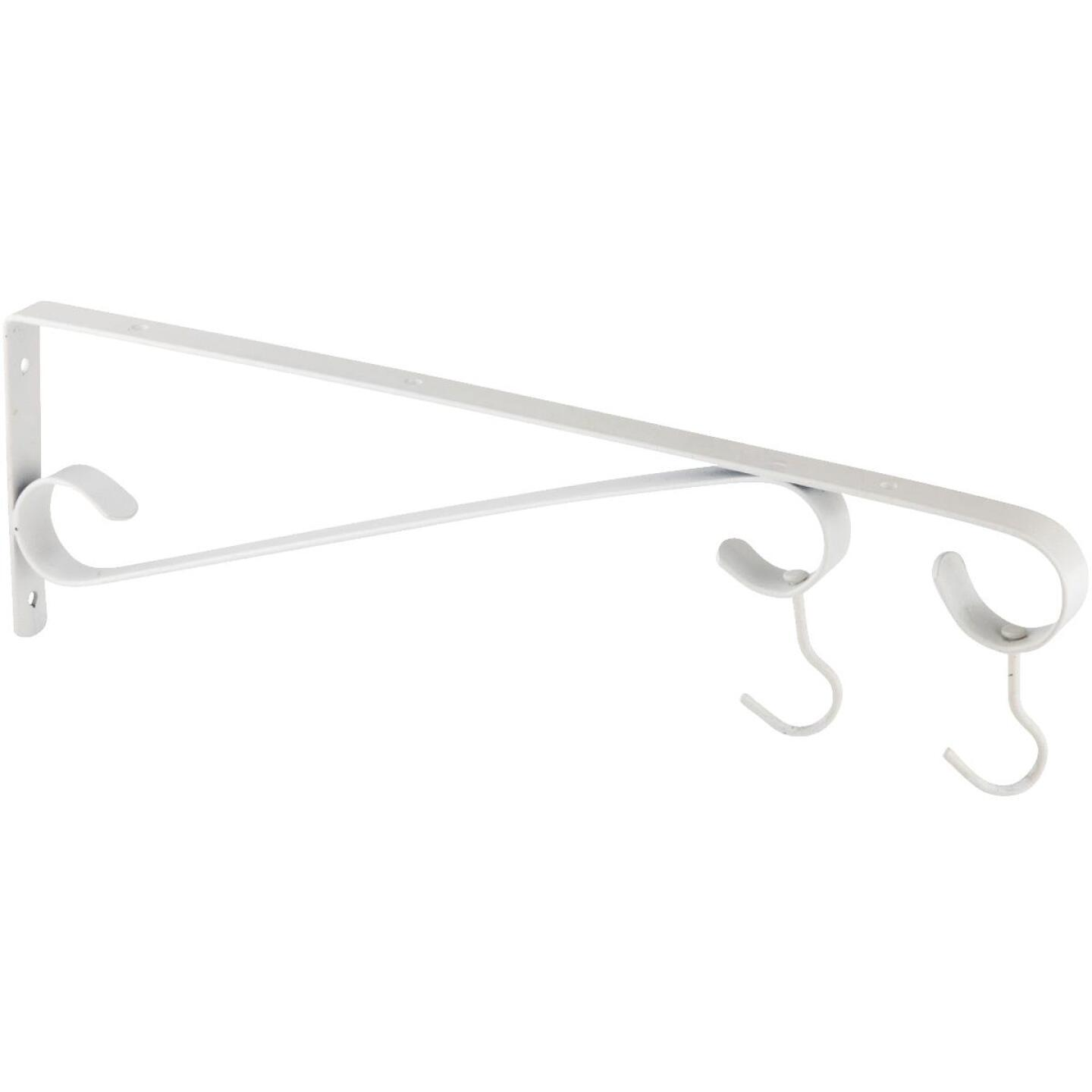 National 15 In. White Steel Hanging Plant Bracket Image 2