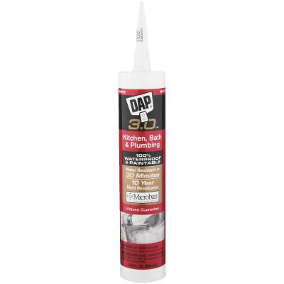 DAP 3.0 9 Oz. Gloss White Kitchen, Bath & Plumbing Caulk